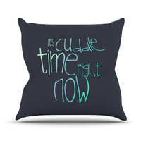 "Monika Strigel ""Cuddle Time Mint"" Throw Pillow"