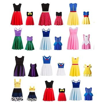 Adult Size Mommy Princess Dress Minnie Mommy and Me Matching Family cosplay Plus size Costume Women's princess dress polka Dots