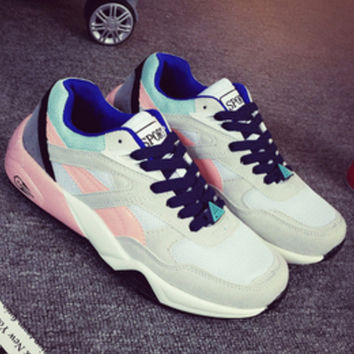 Trending Fashion Casual Sports Shoes Light grey Pink