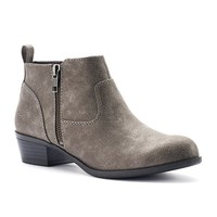 SO Women's Double-Zip Ankle Boots