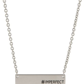 Hashtag Bar Necklace, Imperfect