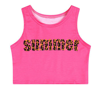 Crop Top Print Slim Summer Tank Top = 4824036036