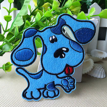 Blue's Clues iron on patch dog applique E0170 by happysupply