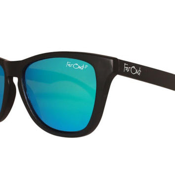 Black Polarized Light Blue Lens