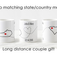 Long distance relationship mugs Valentine's day gift for her