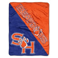 """Sam Houston State OFFICIAL Collegiate, """"Grunge"""" 46""""x 60"""" Micro Raschel Throw  by The Northwest Company"""