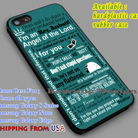 Castiel Quotes | Supernatural iPhone 6s 6 6s+ 6plus Cases Samsung Galaxy s5 s6 Edge+ NOTE 5 4 3 #movie #supernatural dl2