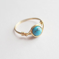 Turquoise ring - unique rings