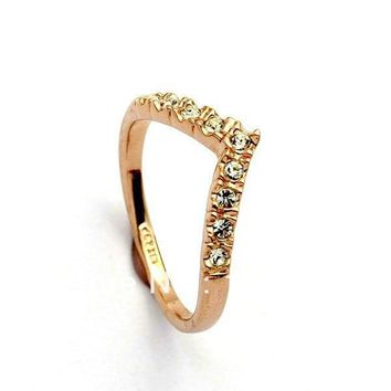 Lover Hot Sell Elegant Gold Color Wedding Ring Made with Genuine Austrian Crystals Full Sizes Wholesales free shipping