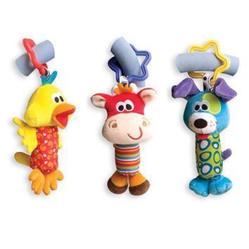 Baby Toys Rattles Tinkle Hand Bell Plush Bed Stroller Hanging Kids Toys For Newborns Children Animal Baby Infant Toy Dolls