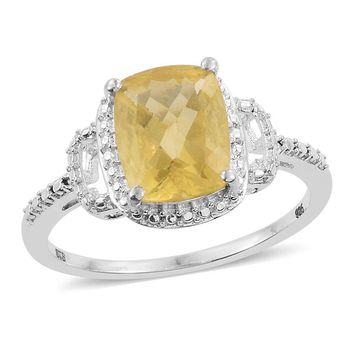 Canary Fluorite Sterling Silver Ring