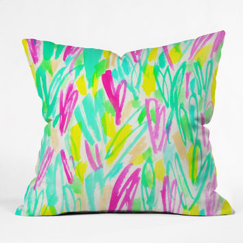 Rebecca Allen Spring Blooms Brightly Throw Pillow