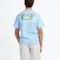 Hole in One Whale Graphic Pocket T-Shirt