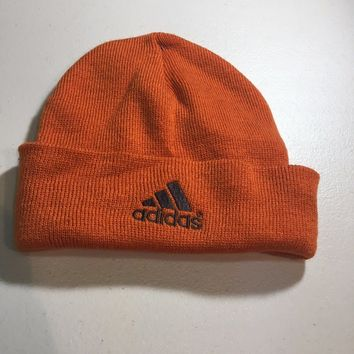 BRAND NEW ADIDAS BURNT ORANGE TRIM KNIT HAT SHIPPING