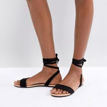 Search: asos fiola tie leg flat sandler - page 1 of 1 | ASOS