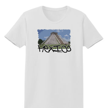 Mexico - Mayan Temple Cut-out Womens T-Shirt
