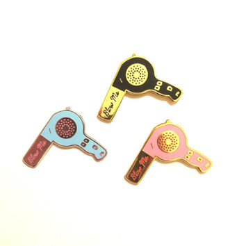"1"" BLOW ME- Hard Enamel Gold Lapel Pin Brooch in Pink or Blue"