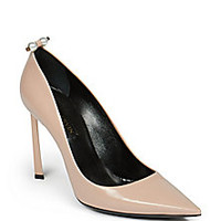 Lanvin - Pearl-Studded Leather Pumps - Saks Fifth Avenue Mobile