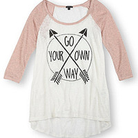 Moa Moa Arrow Baseball Top | Dillards.com