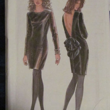 SALE Uncut 1991 Simplicity Sewing Pattern, 7495! Size 8-20, Small/Medium/Large, Evening Dresses, Open Back, Formal Prom Wedding Dresses