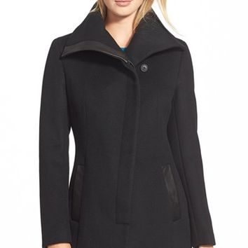 Women's Soia & Kyo 'Jana' Asymmetrical Wool Blend Coat,
