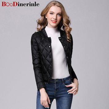 BOoDinerinle 2017 New Winter Women Ultra Light Down Casual Female Portable duck feather Coat Jackets Lightweight Parkas YR022