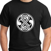 Seal of Rassilon Doctor Who T-Shirt Unisex Black Tee