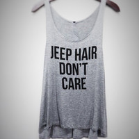 Jeep Hair Don't Care Graphic tank top