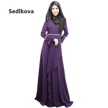 Muslim Woman Malaysia Kaftan Abaya/Dubai Service Clothing Robe Abaya/Female Turkish Saudi Floor Length Islamic Abaya Maxi Dress