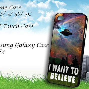 i want to belive x-file movie nebula space Samsung Galaxy S3/ S4 case, iPhone 4/4S / 5/ 5s/ 5c case, iPod Touch 4 / 5 case