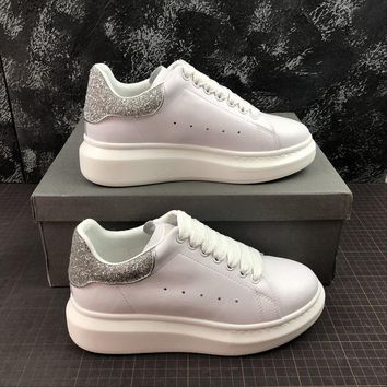 aaaca0aa897 Alexander Mcqueen Oversized White Calf Leather Lace-up Sneakers. Shoes ...