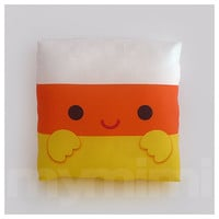 Decorative Pillow, Candy Corn, Halloween Decor, Candy Pillow, Kawaii Pillow, Room Decor, Childrens Toys, 7 x 7""