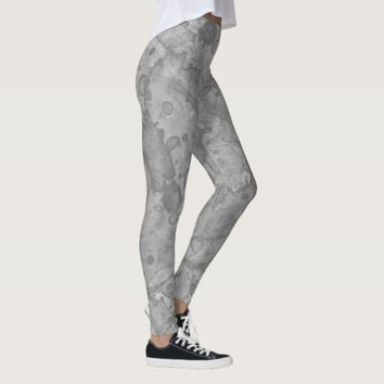 Abstract Stone Watercolor Print Leggings