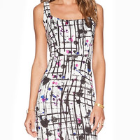 Printed Halter Mini Dress with Back Zipper