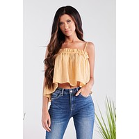 Born For This Crop Top (Marigold)