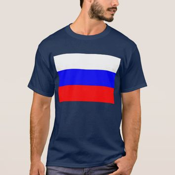 T Shirt with Flag of Russia