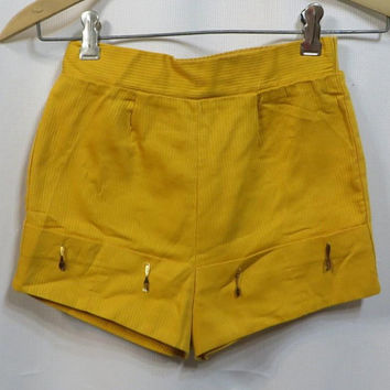 Vintage Shorts 1950s 50s Girls Novelty Size 6 7 Charms Forks Spoons Rockabilly Cotton