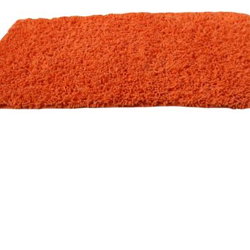 Tache Cotton Chenille Solid Sunny Orange Shag Rug