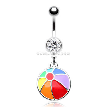 how to clean belly button ring