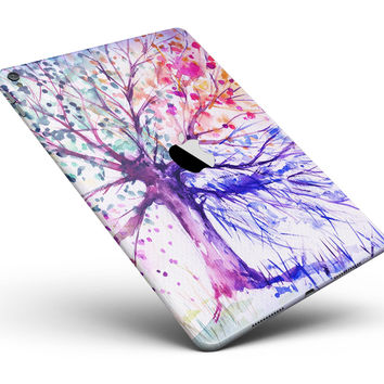 "Abstract Colorful WaterColor Vivid Tree V2 Full Body Skin for the iPad Pro (12.9"" or 9.7"" available)"
