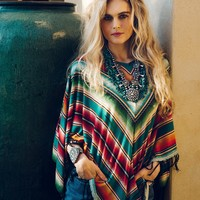 Pachamama Serape Poncho - Tops - Apparel Collection