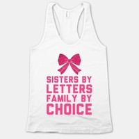 Sisters By Letters Family By Choice