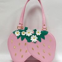 Twin Berry Bag - Pink [172BG02-180063-pk] - $93.00 : Angelic Pretty USA