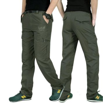 LOMAIYI Plus Size Mens Military Style Cargo Pants Men Summer Breathable Male Trousers Joggers Army Pockets Casual Pants,AM005