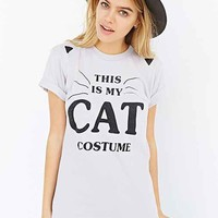 This Is My Cat Costume Tee- Grey