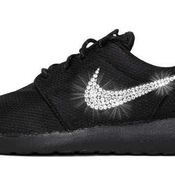 Nike Roshe One + Crystals - Triple Black