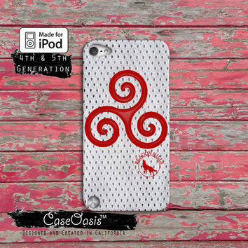 Teen Wolf Triskelion Alpha Symbol Sign Hale Mccall Stiles Case iPod Touch 4th Generation or iPod Touch 5th Generation Rubber or Plastic Case