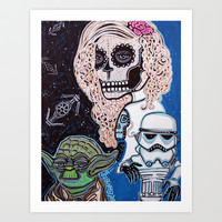 Star Wars Sugar Skull Art Print by Laura Barbosa Art