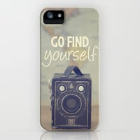 Go Find Yourself iPhone & iPod Case by Melissa Lund