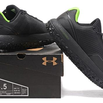 Under Armour Men's UA Overdrive Fat Tire Hiking Boots - Black/Green Color Size US 7-11